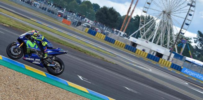 Fait rare Valentino Rossi a chuté