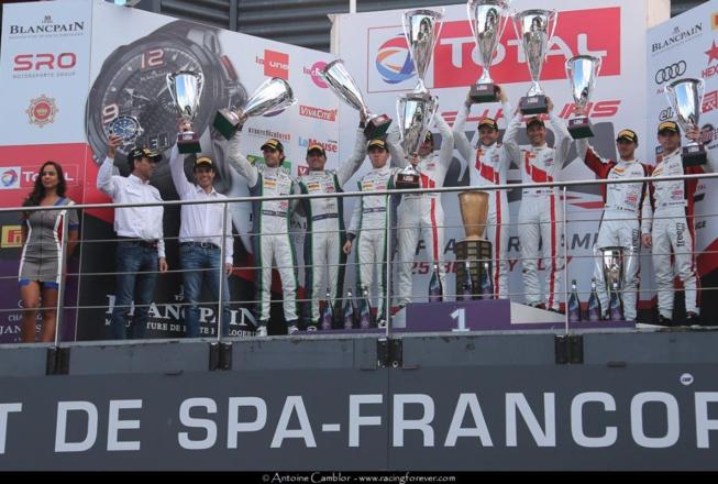 Le podium général se mérite aux 24h de Spa-Francorchamps