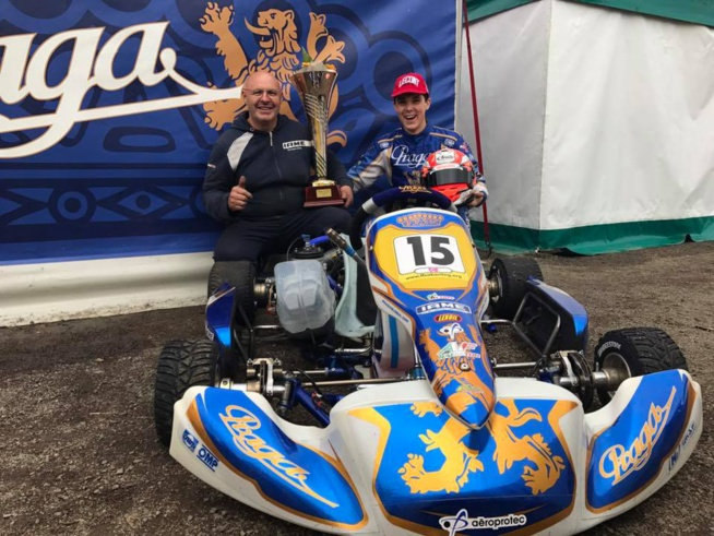 Pierre Loubère, champion de France KZ2 avec Praga