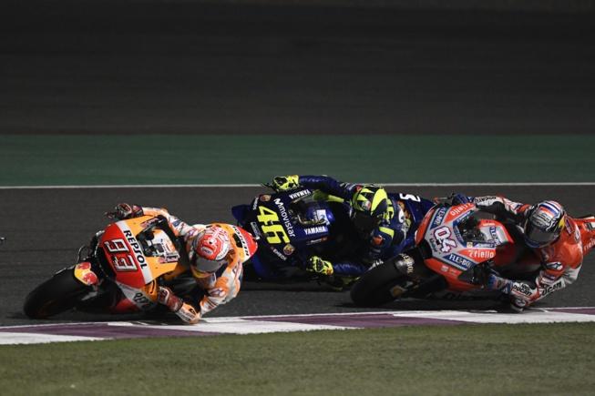 Dovizioso, Marquez et Rossi au top au Qatar (Photo Honda Pro Racing)