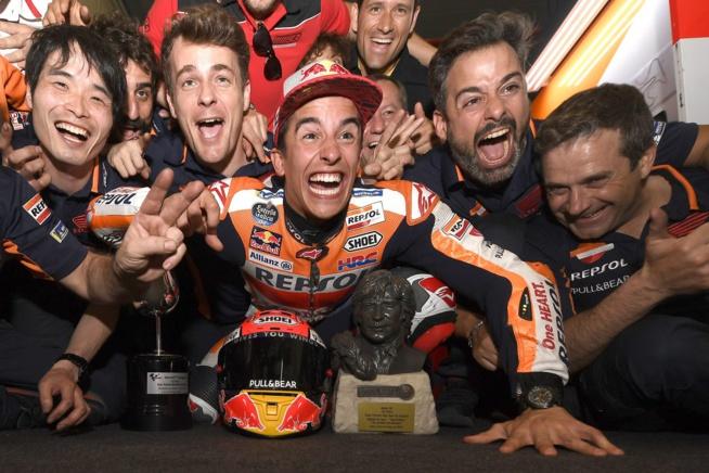 La baraka pour Marquez (Photo Honda pro Racing)