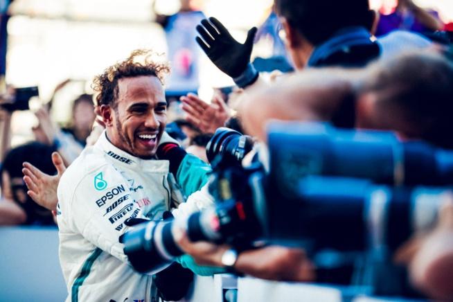 La délivrance pour Lewis Hamilton champion du monde pour la 5e fois