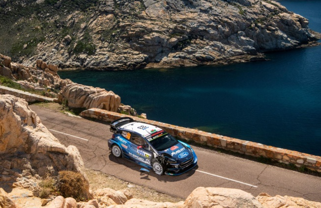 La catastrophe pour Evans dans la Power Stage (photo : Jaanus Ree/Red Bull Content Pool)