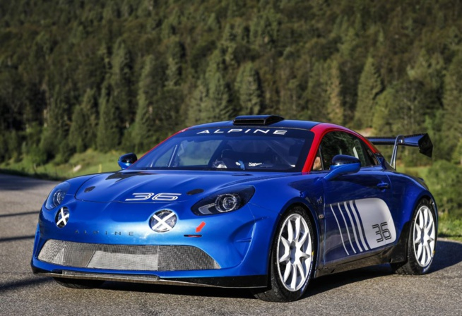 La version rallye de l'Alpine A110