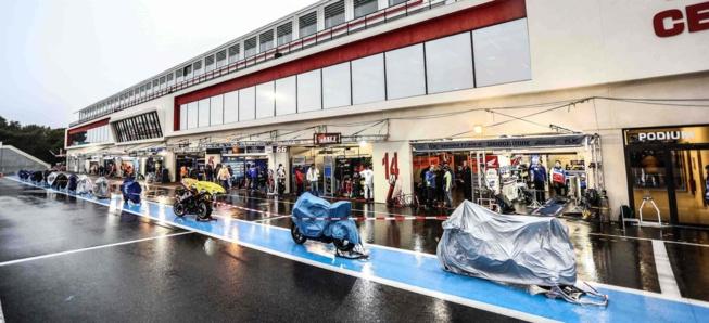 La pluie est abondante sur le Paul Ricard