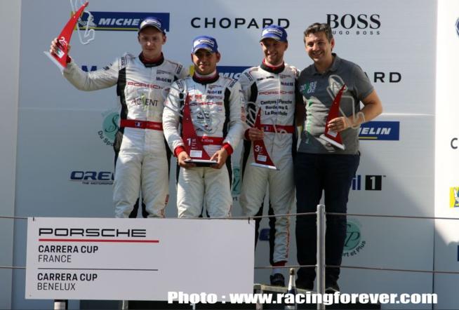 Le podium de la course 1 avec Güven devant Latorre et Ledogar
