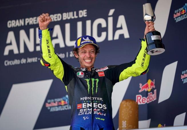 retour sur le podium pour Rossi (Photo Yamaha)