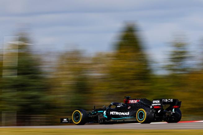 Hamilton vainqueur dans le massif de l'Eifel © AMG Mercedes F1