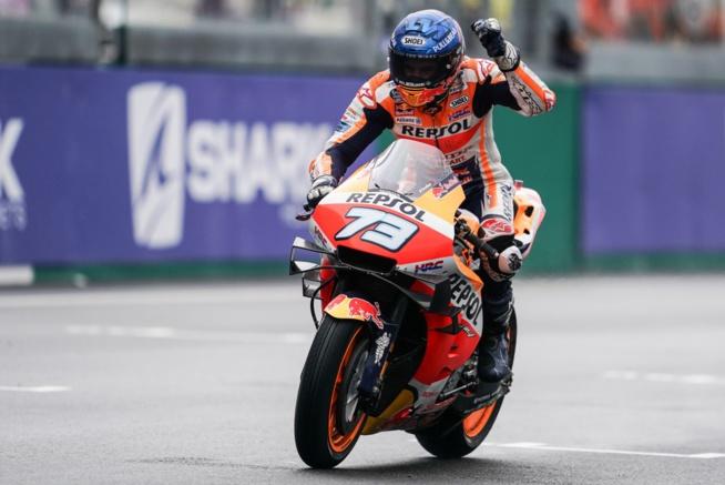 Alex Marquez sur le podium ! (Photo Honda Pro racing)