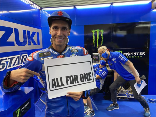 Un nouveau slogan chez Suzuki (Photo www.suzuki-racing.com)