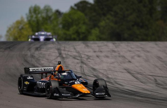 C'est en Indycar que l'on trouve une McLaren en pole – © NTT Indycar