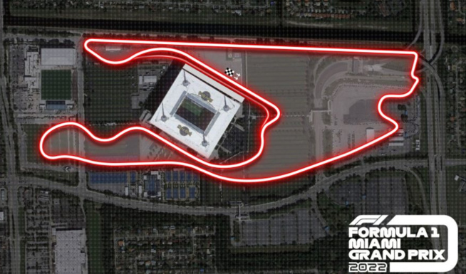 Le futur tracé autour du stadium – © F1.com