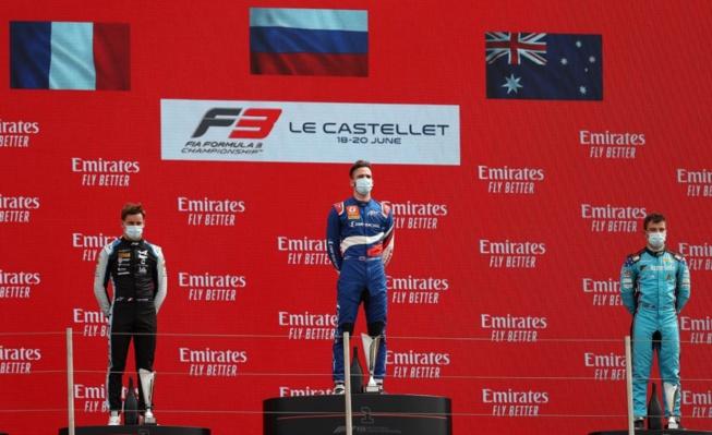 Le premier podium du week-end