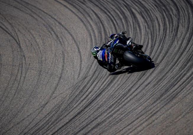 Maverick Vinales a perdu la bonne trajectoire (photo Yamaha)
