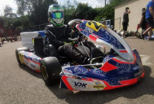 Axel Gouesmel sur son Kart
