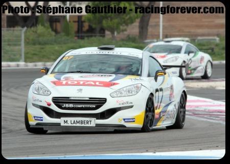 Mathieu Lambert confirme son potentiel avec la Peugeot RCZ Cup