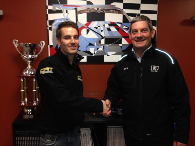 Gael Castelli en compagnie de son nouveau patron Jack Leconte