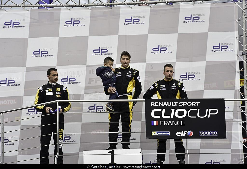 Même podium qu'en course 1 pour la 2e manche de Dijon
