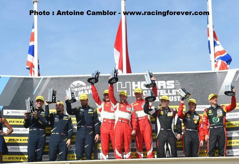 le podium LM GTE (Photo A.Camblor)