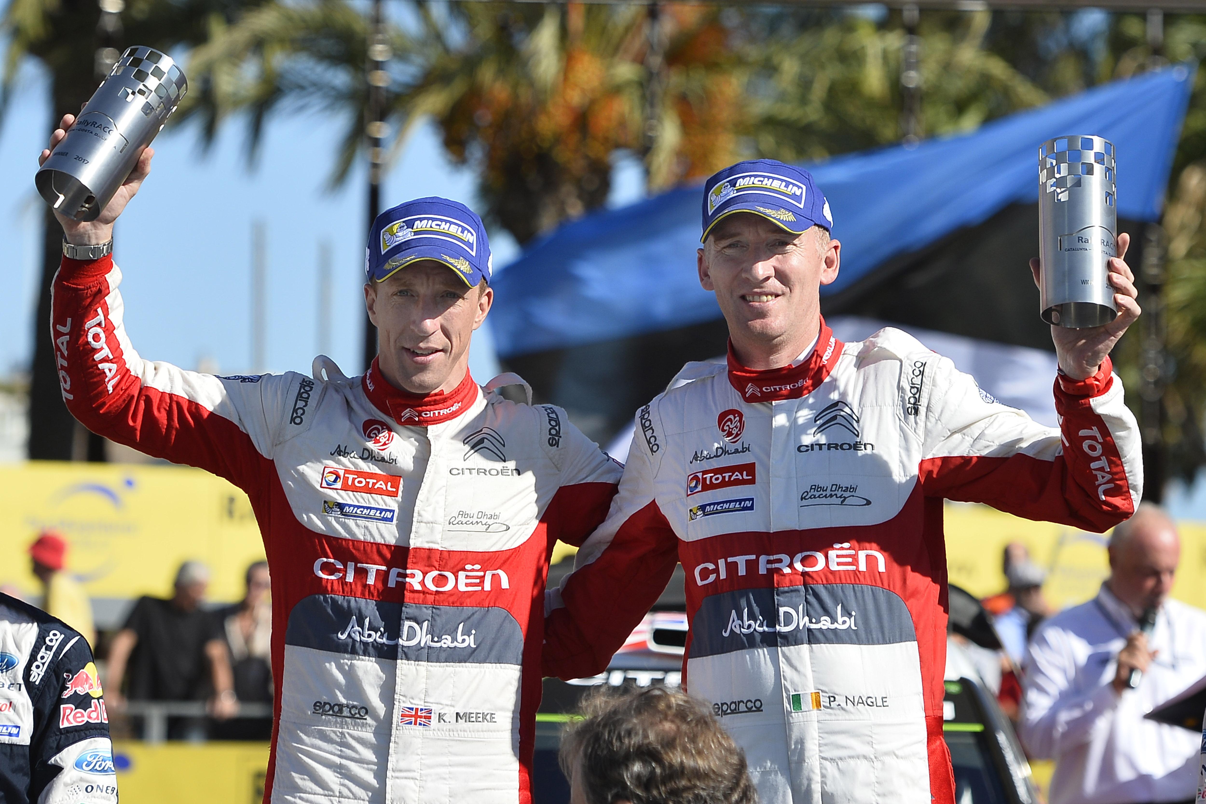 K. Meeke et P. Nagle remportent le rallye d'Espagne en Catalogne