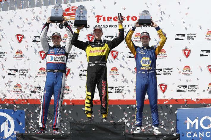 Indycar : Bourdais, de l'hôpital jusqu'en haut du podium