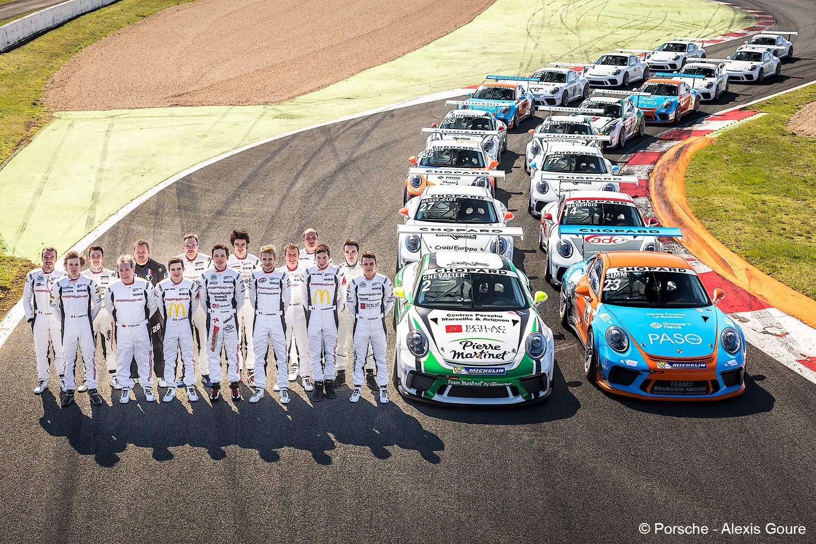 Le plateau 2018 (Photo Porsche/A.Goure)