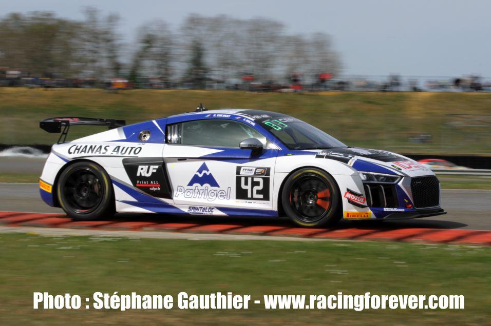 Fabien Michal avait réalisé le meilleur chrono sur l'Audi R8 de Saint Eloc
