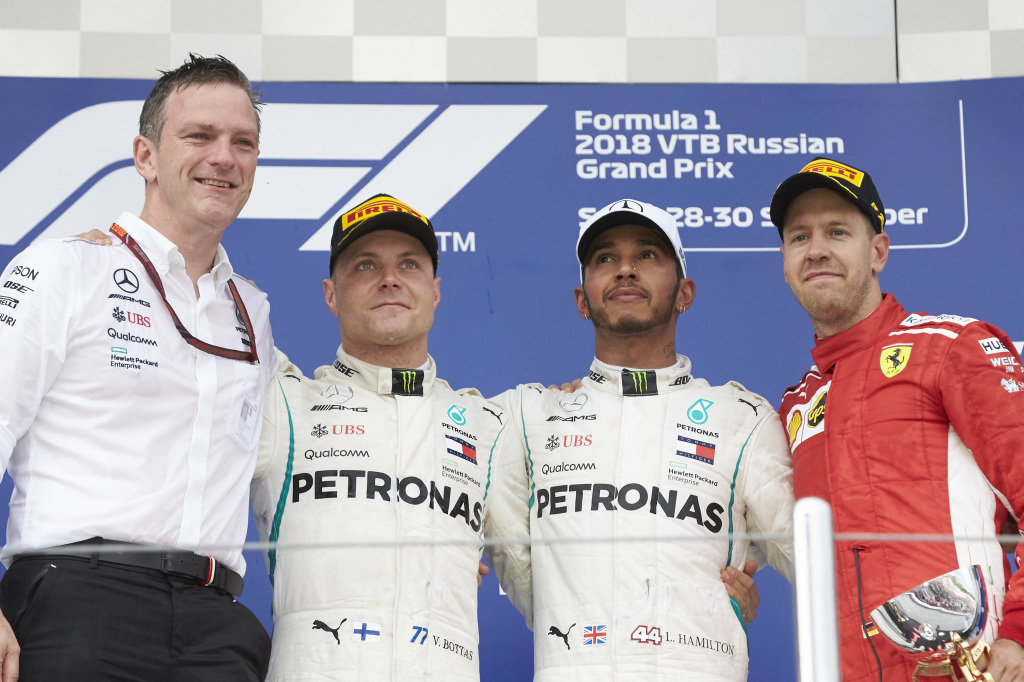 Un podium qui fait l'affaire de Mercedes (Photo Daimler)