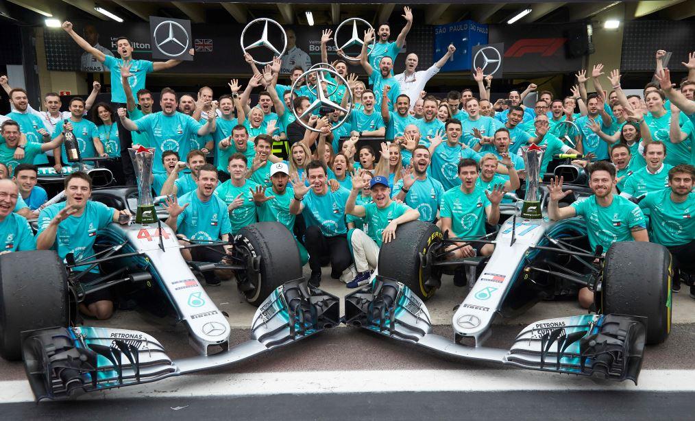 C'est fait pour Mercedes à nouveau championne du monde (Photo Daimler)