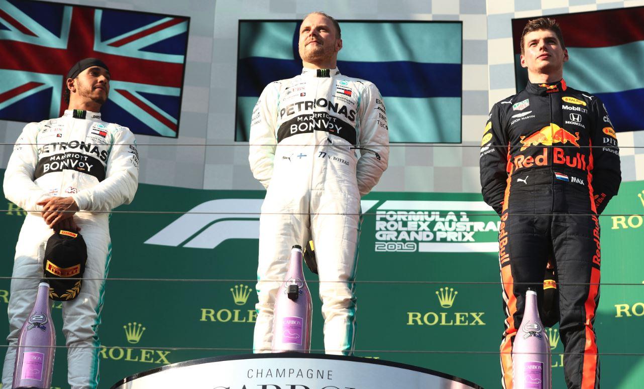 Premier podium de l'année (Robert Cianflone/Getty Images)