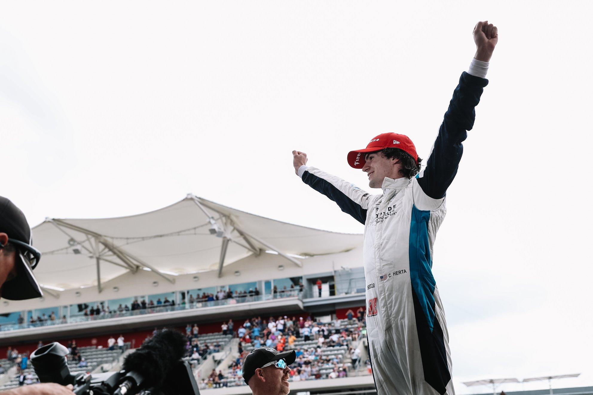 Colton Herta rentre dans la légende Indycar