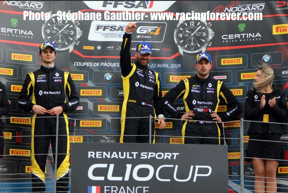 Clio Cup 2019 : Nogaro, course 1