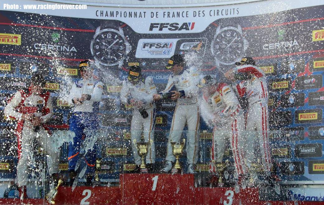 Le champagne pour récompenser tous les efforts était bienvenue.