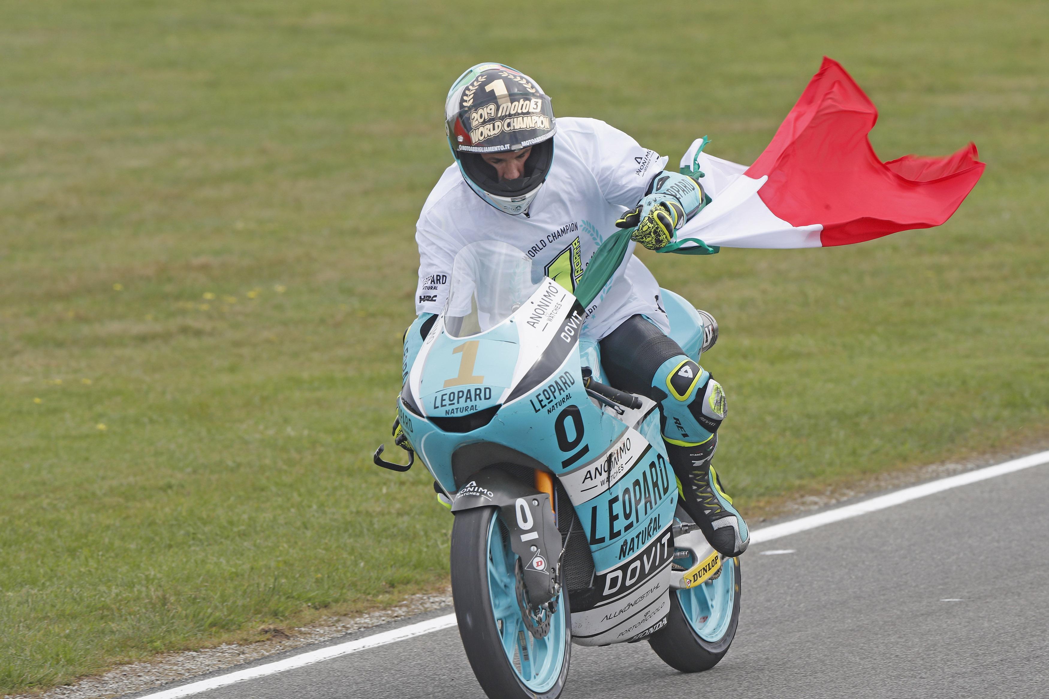 Le nouveau champion du Monde Moto3