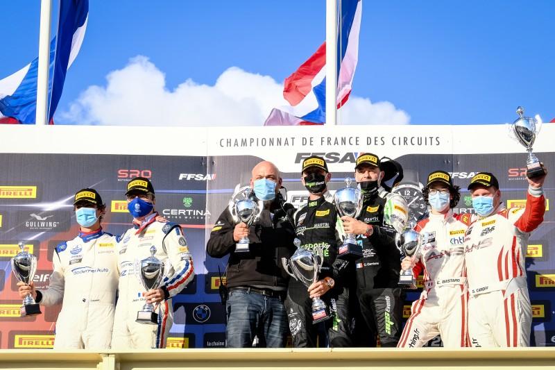 Le podium de l'Am Cup (Photo D.Bogaerts - SRO)
