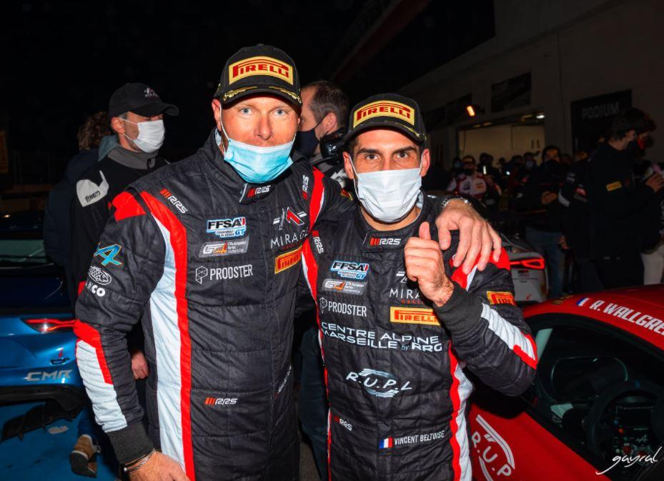 Belle réussite pour Wallgren/Beltoise qui restent dans la course au titre (Photo L.Gayral, Mirage Racing)