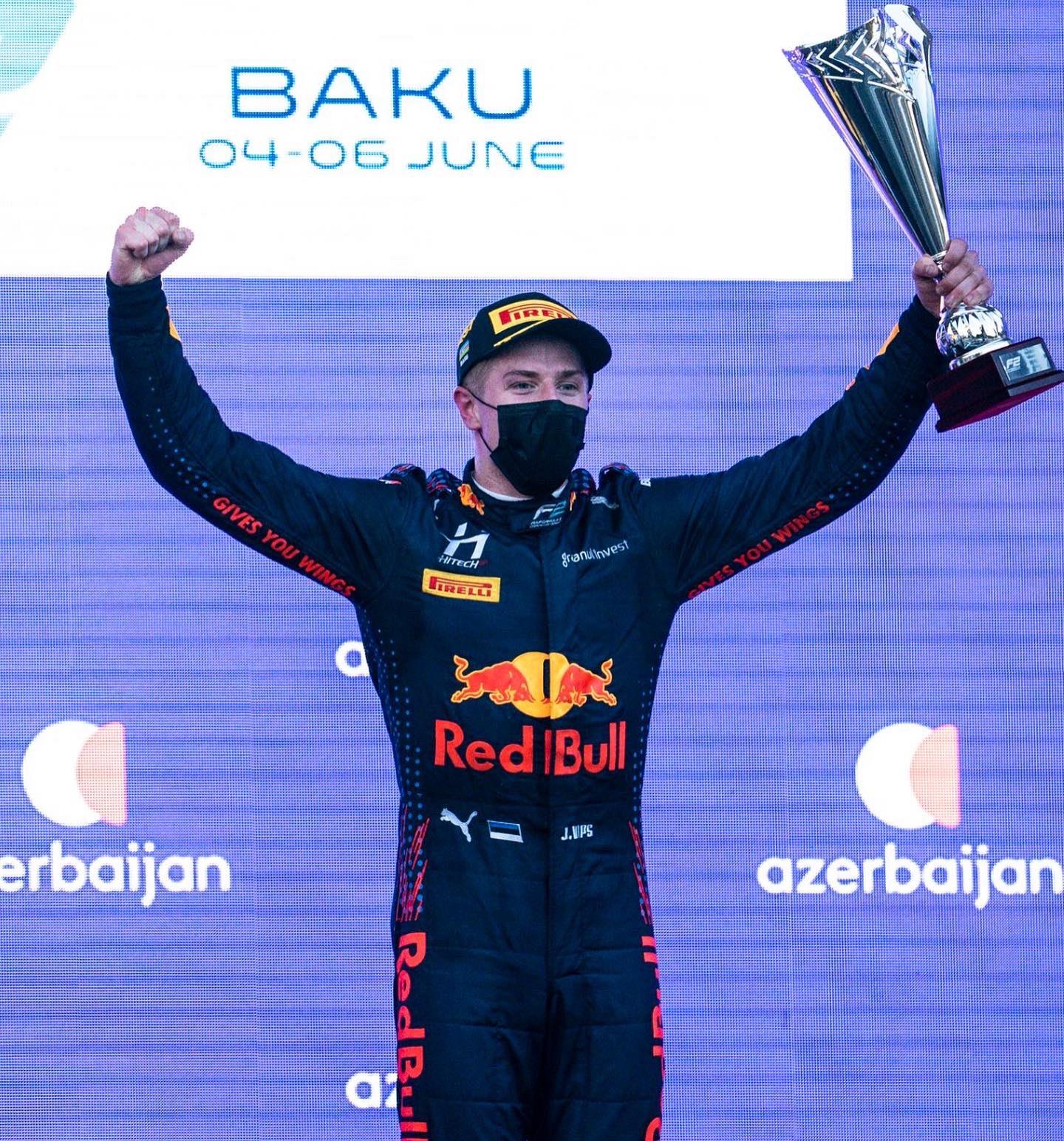 Vips sur la plus haute marche du podium © Hitech GP