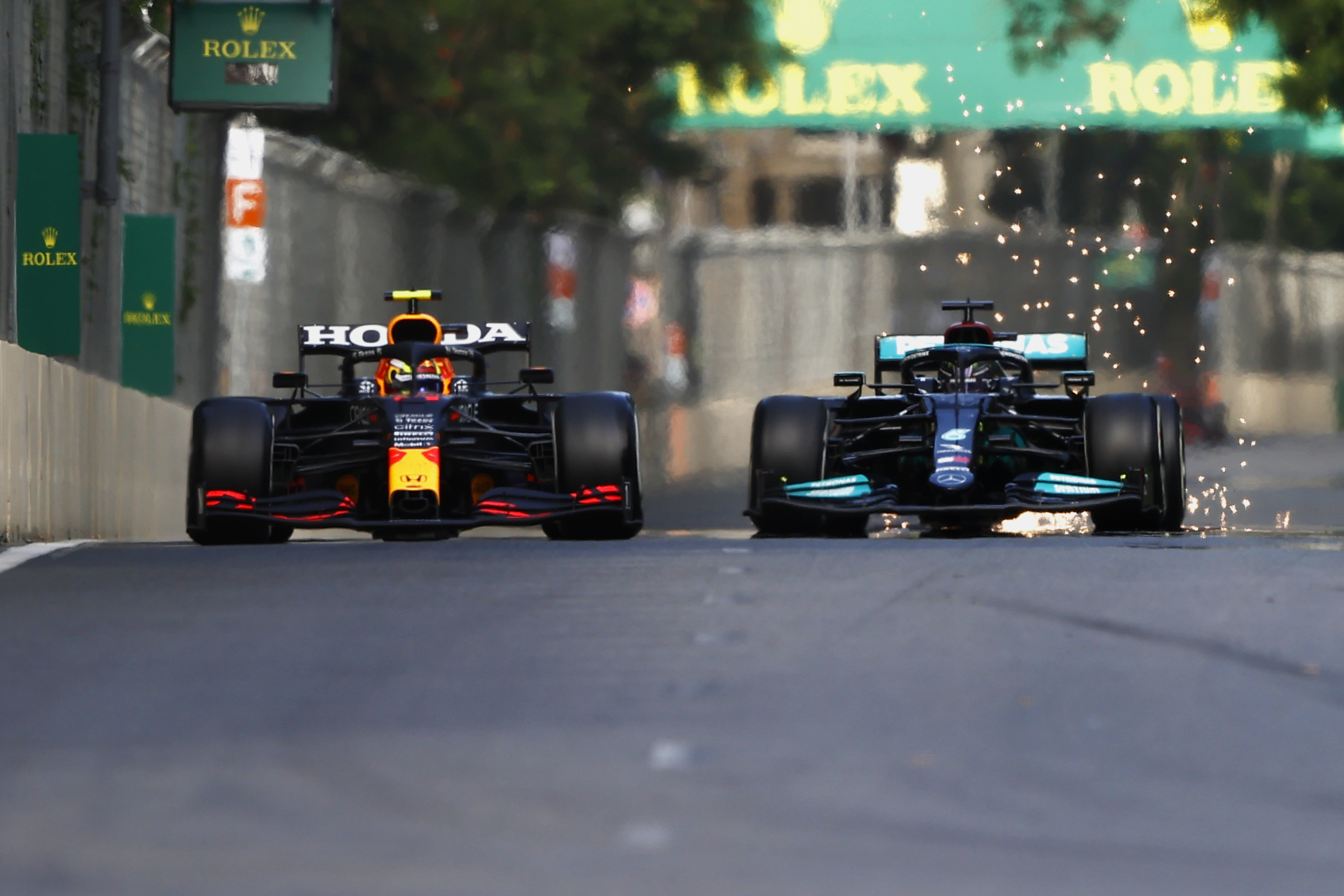 Une rare erreur de Hamilton © AMG Mercedes F1