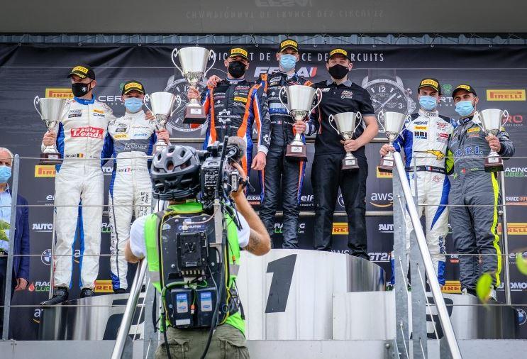 Le podium de la Silver Cup (Photo D.Bogaerts SRO)