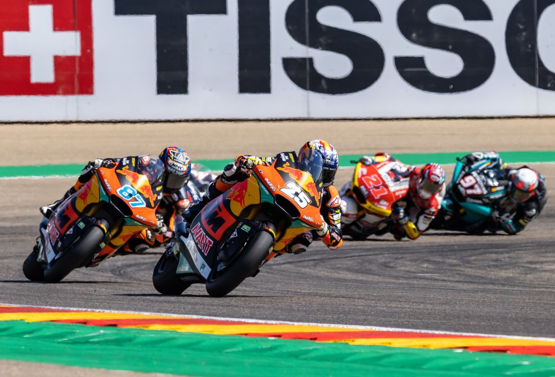 KTM Ajo toujours devant en Moto 2 (Rob Gray polarity photo)