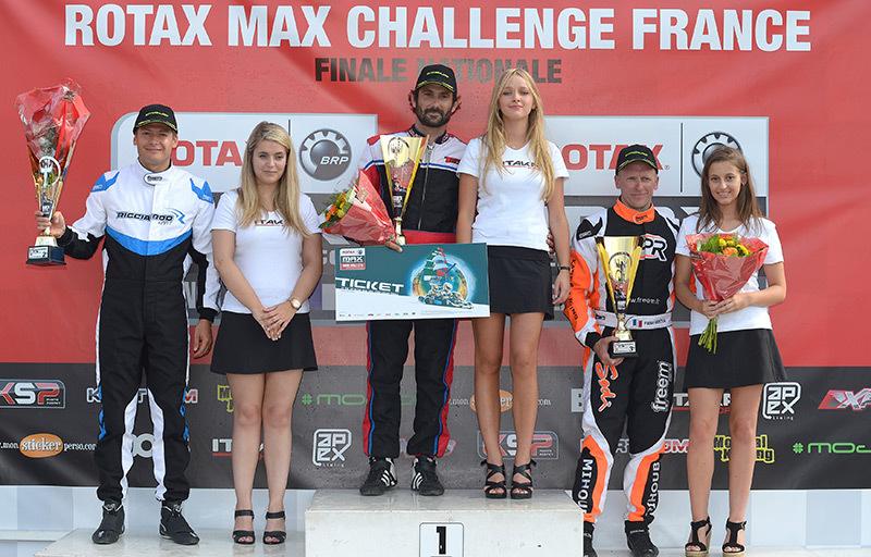 Des pénalités ont parfois promu des vainqueurs inattendu comme ici en Rotax Max Master (Photo KSP)