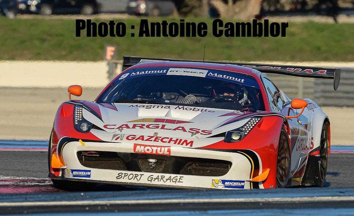 Soheil Ayari au volant de la Ferrari du Sport Garage