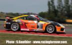 La Porsche des 2 pilotes du CD Sport