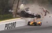 Indycar : Wickens blessé après un accident à Pocono