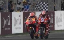 MotoGp : Dovisiozo bat Marquez au Qatar