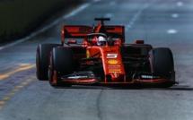 F1 : GP de Singapour, victoire de Vettel et doublé Ferrari